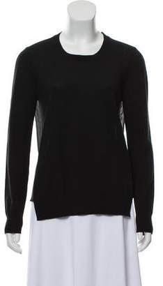 J Brand Wool Sheer-Panel Sweater