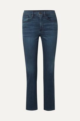 3x1 Stevie Cropped High-rise Straight-leg Jeans - Dark denim