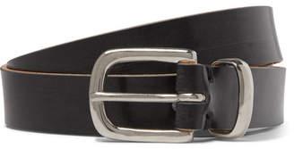 Oliver Spencer 3cm Black Leather Belt
