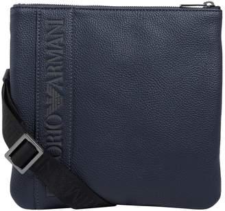 Giorgio Armani Leather Logo Backpack
