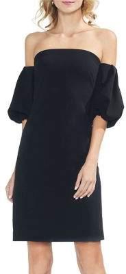 Vince Camuto Off-the-Shoulder Bubble-Sleeve Mini Shift Dress