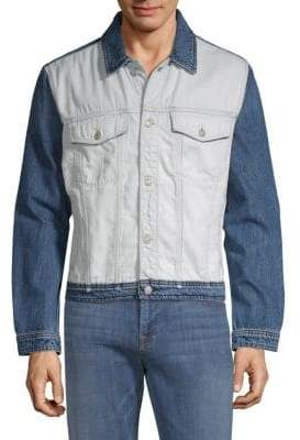 7 For All Mankind Inside Out Denim Trucker Jacket