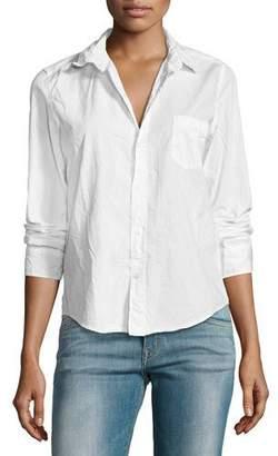 Frank And Eileen Barry Buttoned Poplin Shirt, White