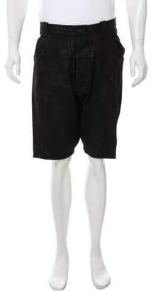 Barbara Gongini Blistered Leather Shorts
