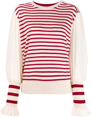 Tsumori Chisato striped knitted top
