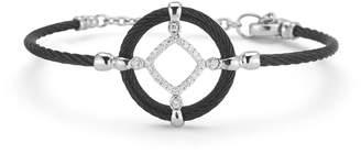 Alor Open Diamond-Station Cable Bracelet Black