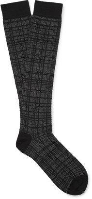 Marcoliani Checked Jacquard-Knit Socks $30 thestylecure.com