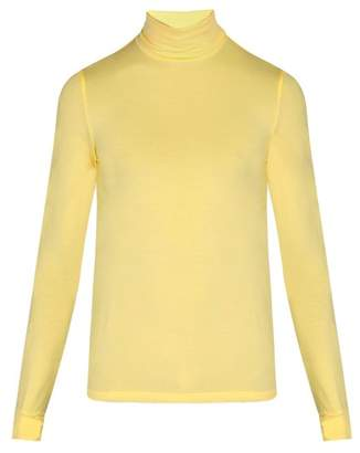 Raf Simons Classic Stretch Jersey Roll Neck Top - Mens - Yellow