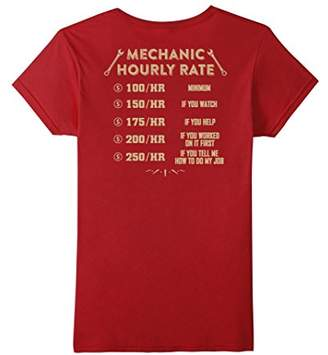 Mechanic T-Shirt - Mechanic Hourly Rate