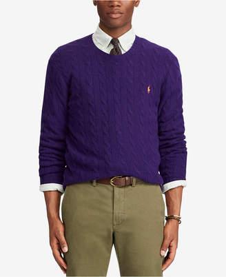 Polo Ralph Lauren Men Cashmere Wool Blend Cable-Knit Sweater
