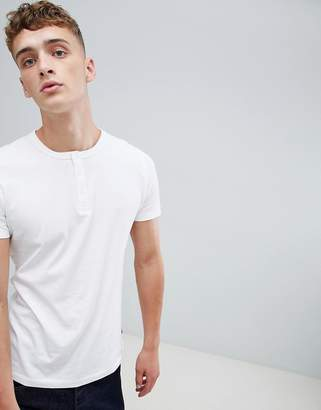 French Connection Grandad Collar T-Shirt