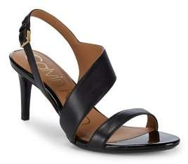 Calvin Klein Lancy Leather Strappy Sandals