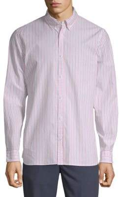 Calvin Klein Jeans Stripe Cotton Button-Down Shirt