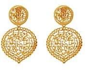 Loren Stazia Women's Yellow Goldtone Metal Clip-On Drop Earrings-Gold