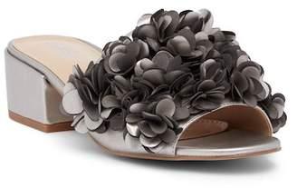 Charles by Charles David Victorious Metallic Rosette Block Heel Sandal