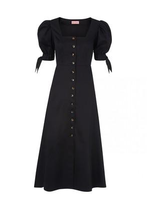 Kitri Lenora Black Midi Dress