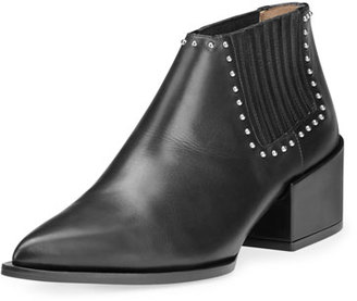 Givenchy Lux Leather Studded Chelsea Boot, Black $1,150 thestylecure.com