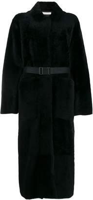 Inès & Marèchal textured long-length coat