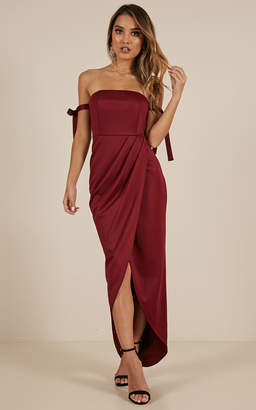Showpo Common Muse Maxi Dress in Wine - 10 (M)