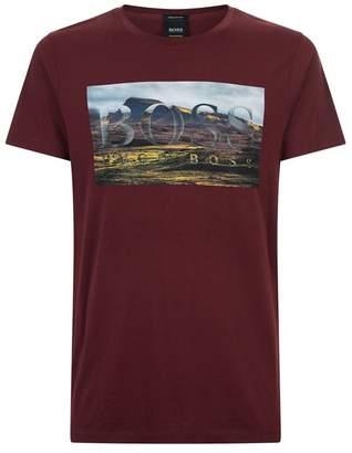 BOSS ORANGE Landscape Graphic T-Shirt