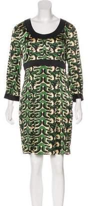 Diane von Furstenberg Abstract Print Dress