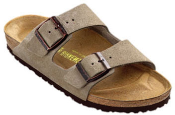 Birkenstock arizona soft footbed sandal (taupe)