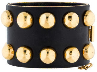 Celine Céline Studded Leather Bracelet