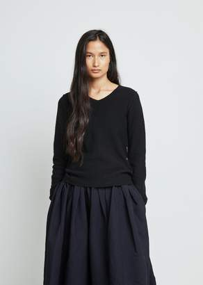 Comme des Garcons Carded Lambswool V-Neck Sweater
