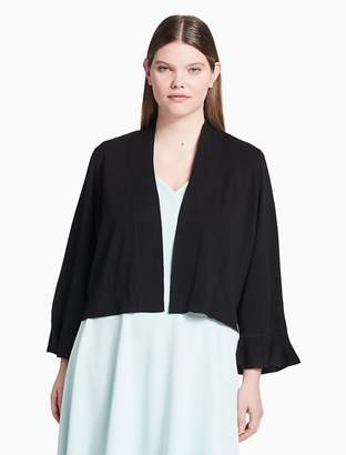 Calvin Klein plus size lace back sheer shrug