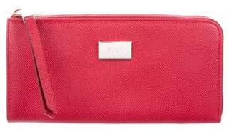 Tod's Grained Leather Zip Wallet