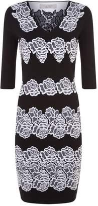 D-Exterior D.Exterior Floral Knit Dress