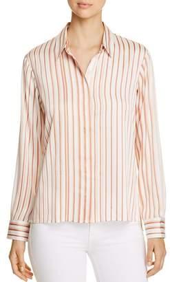Donna Karan Striped Button-Down Top
