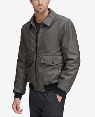 Andrew Marc Men Faux-Leather Jacket
