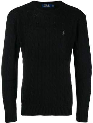 Polo Ralph Lauren cable knit logo sweater