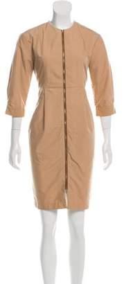 Tomas Maier Zip-Up Mini Dress Zip-Up Mini Dress