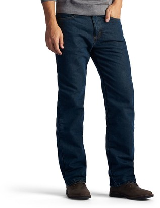 Lee Men's Fleece-Lined Straight-Leg Jeans