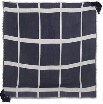 Metallic Fil Coupé Silk-blend Scarf - Black Chloé TEj1w8c1Pl