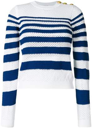Pinko open knit striped jumper