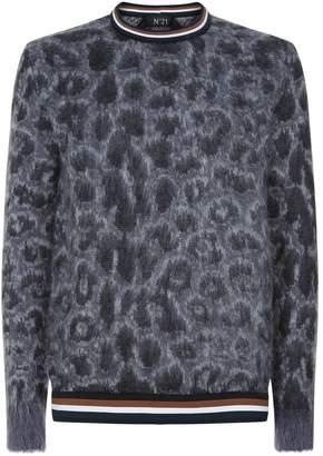 N°21 N 21 Leopard Print Sweater