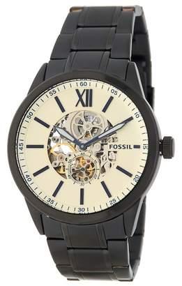 Fossil Men's Flynn Mechanical Chronograph Bracelet Watch, 48mm
