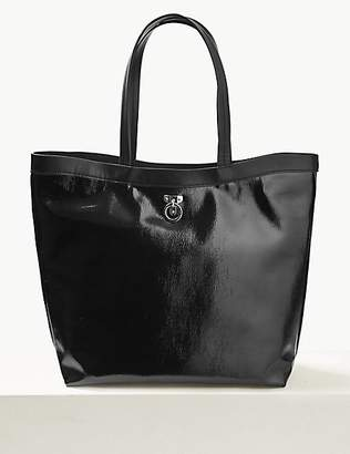 M&S Collection Faux Leather Shopper Bag