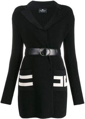 Elisabetta Franchi ribbed knit fitted dress