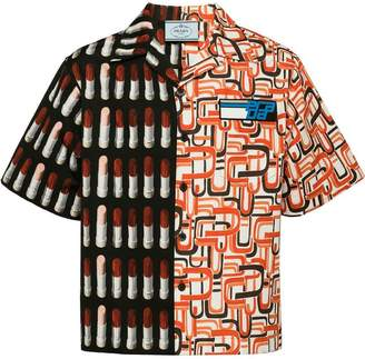 Prada printed boxy-fit shirt