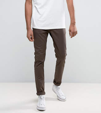 Asos Design TALL Skinny Chinos In Brown
