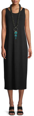 Eileen Fisher Jersey Scoop-Neck Midi Dress, Plus Size
