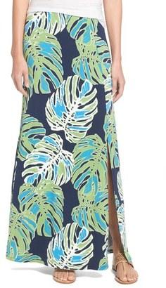 Tommy Bahama 'Pop Art Palms' Print Jersey Maxi Skirt $128 thestylecure.com