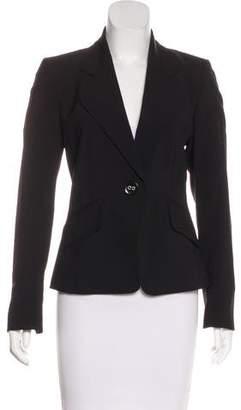 Ellen Tracy Wool Button-Up Blazer
