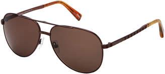 Ermenegildo Zegna EZ 0027 Havana Aviator Sunglasses