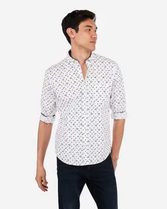 Express Slim Floral Print Soft Wash Button-Down Shirt