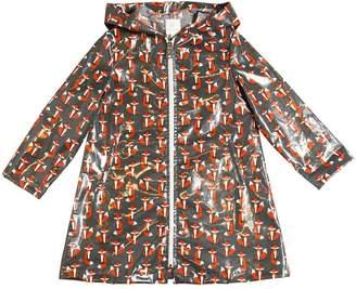 Foxes Coated Cotton Rain Coat